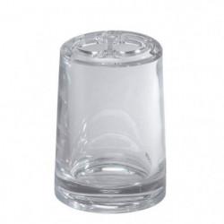 GERSON Porte brosses a dents - Ø7,5 x H 11 cm - Transparent