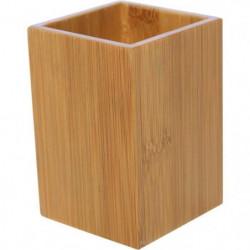 Gobelets a dents carré - Bambou - H10 x l7 x P7 cm
