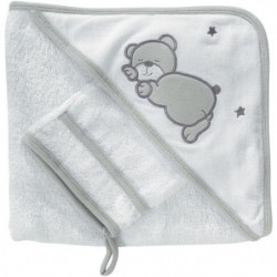 KINOUSSES Set de bain Ourson - Bébé mixte - 70 x70 cm