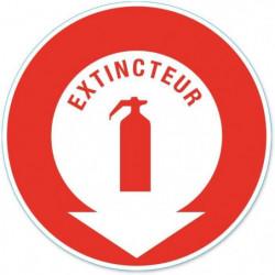 Disque de signalisation Extincteur - PVC adhésif - Ø 170 mm