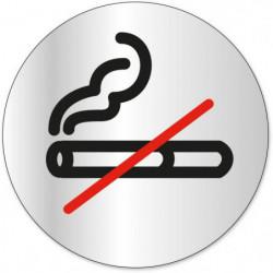 Disque indicateur Défense de fumer - Aluminium adhésif - Ø 8