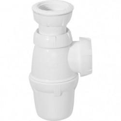 WIRQUIN Siphon de lavabo - Sortie a visser Ø 40 mm - Réglabl