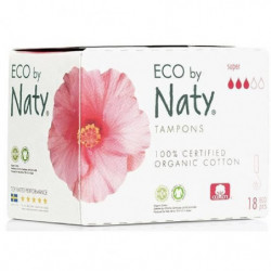 NATY Tampons sans applicateur Super - Lot de 18