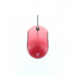 MOBILITY LAB Souris Mousy - Optique - Filaire - USB - Rouge