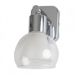 PEARL-Applique de salle de bain Alu poli/Verre givré Ø21cm A