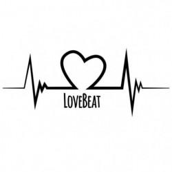 Stickers adhésif mural Love beat - 100x41 cm