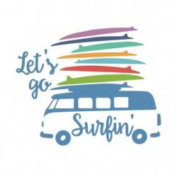 Stickers adhésif mural Let's go surfin' Exotic Furgoncino Vi
