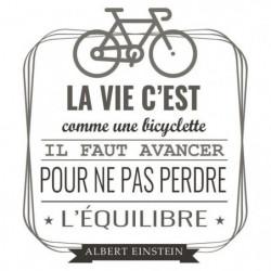 Stickers adhésif mural La vie c'est comme une byciclette - 4
