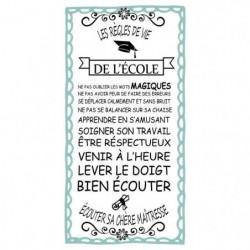 Stickers adhésif mural Les regles de vie de l'école - Multic