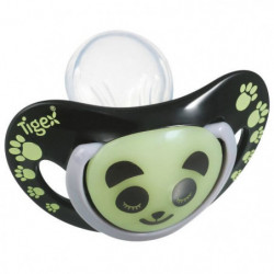 TIGEX 2 Sucettes Smart Night en Silicone Taille 18 Mois+ Pan