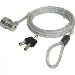 Câble de sécurité a câble métallique avec serrure a clé pour