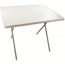 HIGHLANDER Table Extérieur Pliante Blanc