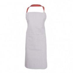 JULES CLARYSSE Tablier de cuisine Evergrey - 75x85 cm - Roug