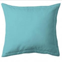 COTE DECO Taie d'Oreiller 100% coton 63x63 cm - Bleu turquoi