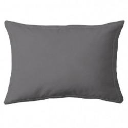 COTE DECO Taie d'Oreiller 100% coton 50x70 cm - Gris anthrac
