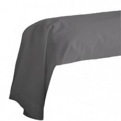 COTE DECO Taie de Traversin 100% coton 85x185 cm - Gris anth
