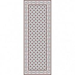 UTOPIA Tapis de couloir carreaux de ciment 67x180 cm beige,