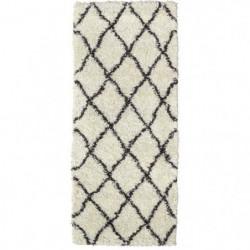 ASMA Tapis de couloir Shaggy - Style berbere - 67 x 180 cm -