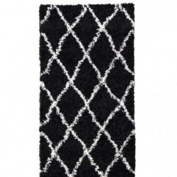 ASMA Tapis de couloir Shaggy - Style berbere - 80 x 140 cm -