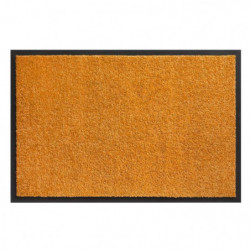 Tapis d?entrée TWISTER - Orange - 40x60 cm - Support vinyl a