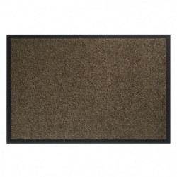 Tapis d?entrée TWISTER - Marron brun - 60x90 cm - Support vi