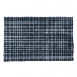 Tapis d?entrée FUSION DRY - Noir rayé bleu - 50x80 cm - Supp