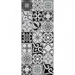 AMADORA Tapis 100% vinyle - Imitation carreau de ciment - 49