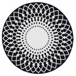 UTOPIA Tapis rond 100x100cm - Noir