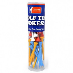 ON PAR Lot de 40 Tees de Golf avec des Blagues - Multicolore