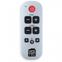 HESTEC 23376 Télécommande simplifiée universelle - Grosses t