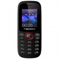 TEDDY 1 Téléphone portable Noir/Rouge 32 Mo