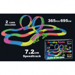 AMAZING TRACKS - Circuit voiture de 365 pieces - Brille dans