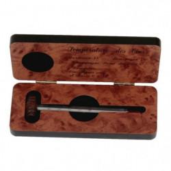 Thermometre a vin + coffret bois finition acajou