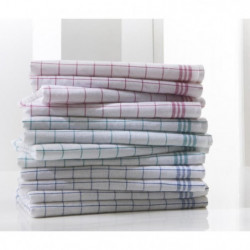 TODAY Lot de 12 torchons 100% coton Laura 80x55 cm bleu, ver