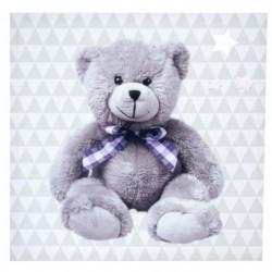 DOMIVA Toile lumineuse Little Bear - Scintillante - 30 x 30