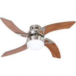 Ventilateur de plafond - MOOREA -  107cm - 4 pales - 1 lampe