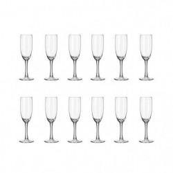 LIBBEY CLARET Lot de 12 flûtes a champagne 17 cl transparent