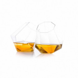 THUMBS UP Lot de 2 verres a whisky Diamond