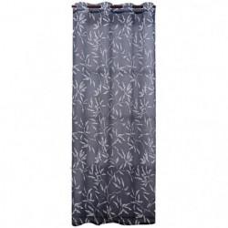 Voilage imprimé bambou - 100% polyester - 140 x 240 cm - Noi