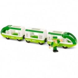 BRIO World  - 33622 - Train De Voyageur Vert - Jouet en bois