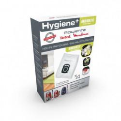 Pack de 4 sacs Haute Filtration Hygiene+ ROWENTA Silence Force