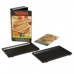 TEFAL Accessoires XA800312 Lot de 2 plaques grill panini