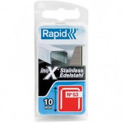 RAPID Agrafes acier inoxydable - Fil fin - N°53/10 mm