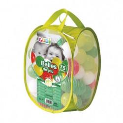 LUDI 75 balles de jeu avec sac de transport Vert