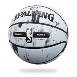 SPALDING Ballon de basket-ball NBA Marble Bw Outdoor - Noir