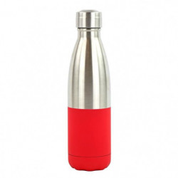 YOKO DESIGN Bouteille isotherme Duo soft - Rouge et inox