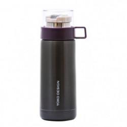 YOKO DESIGN Thermo Mug avec tasse - Coloris violet - 350 ml