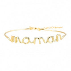 """BAM - Bracelet """"Maman"""" Laiton doré - Femme"""