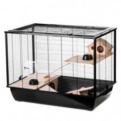 DUVO Cage Black Hammer - 78x48x58 cm - Noir - Pour rongeurs