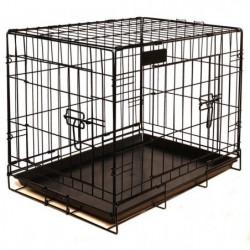 RIGA Cage pour chien - Taille M - Noir - 79 cm